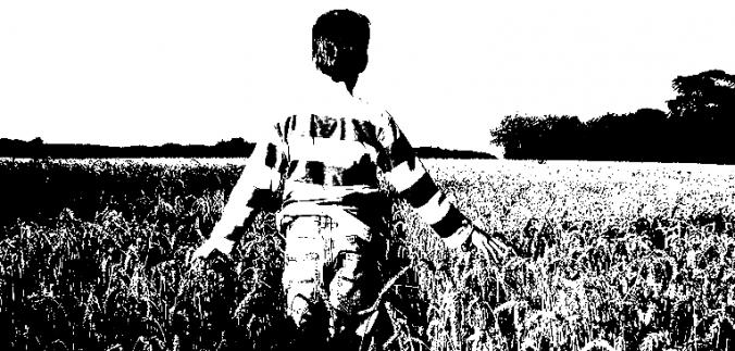 Der Farmer bestellt das Feld