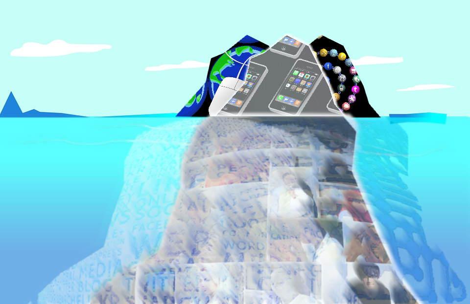 Wie sehen nur die Spitze des Eisbergs